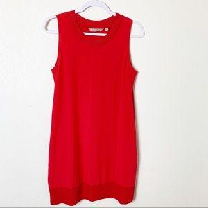 Athleta Red Ribbed Pocket Tank Dress S